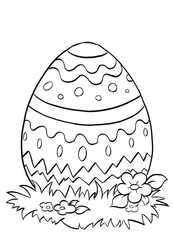 Coloriage et dessins gratuits Oeuf de Pâques simple à imprimer