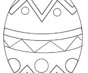 Coloriage et dessins gratuit Oeuf de pâques stylisé à imprimer