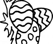 Coloriage Oeuf symbole de Pâques