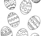Coloriage et dessins gratuit Oeufs de pâques à télécharger à imprimer