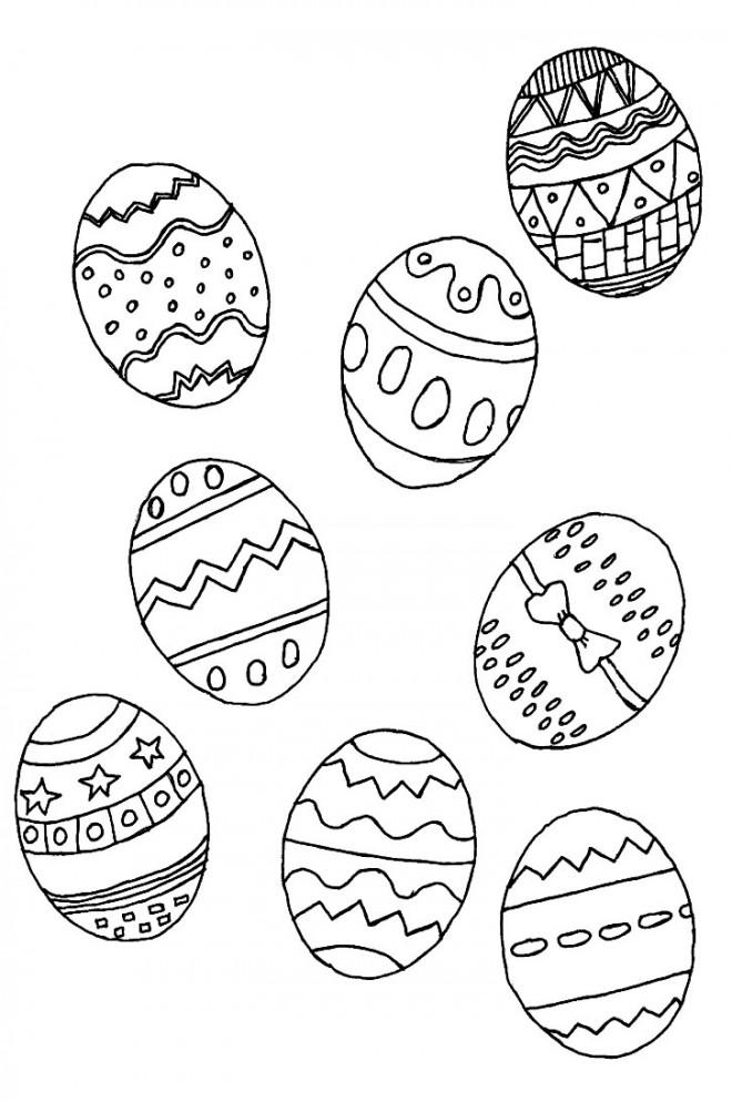 Coloriage et dessins gratuits Oeufs de pâques à télécharger à imprimer