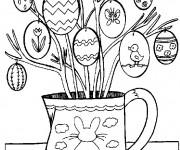 Coloriage et dessins gratuit Oeufs de pâques décorés à imprimer