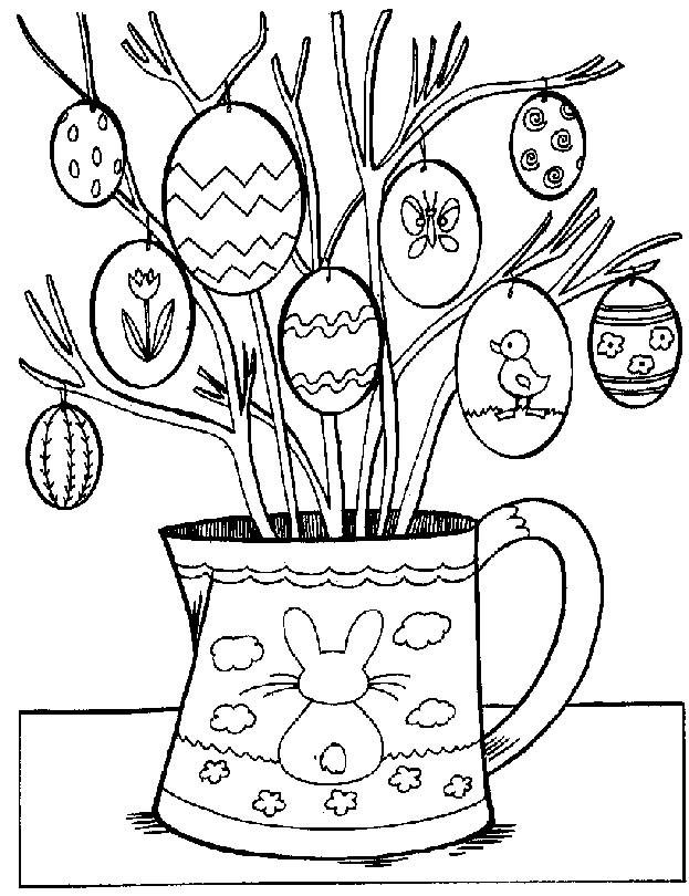 Coloriage et dessins gratuits Oeufs de pâques décorés à imprimer