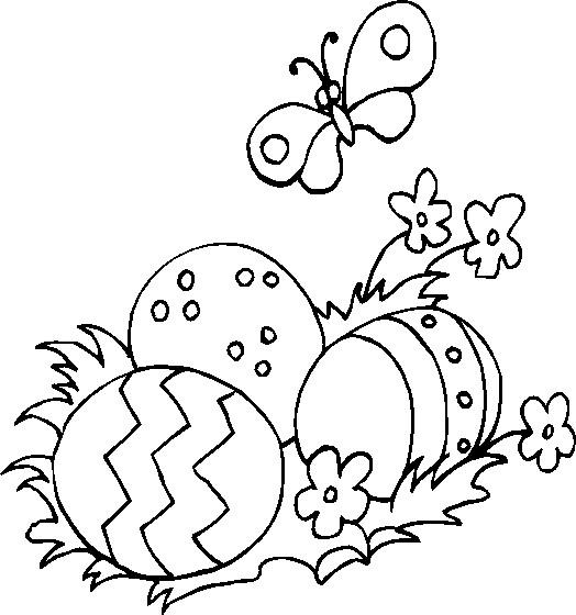 Coloriage et dessins gratuits Oeufs de Pâques et nature à imprimer