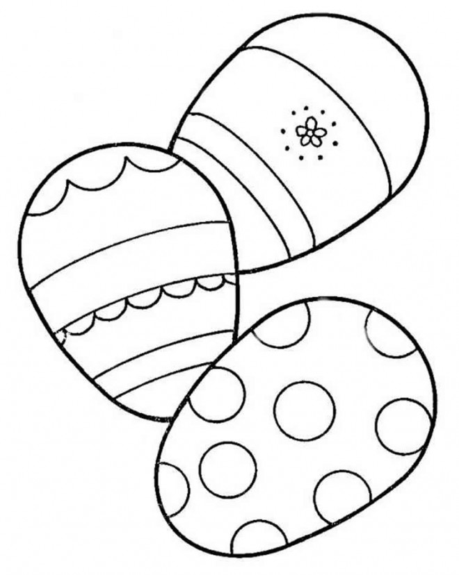 Coloriage et dessins gratuits Oeufs de Pâques vecteur à imprimer