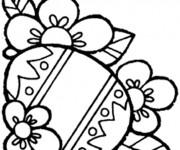Coloriage et dessins gratuit Pâques en couleur à imprimer