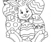 Coloriage et dessins gratuit Pâques en Ligne à imprimer