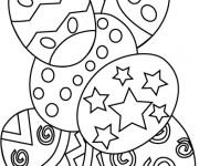 Coloriage et dessins gratuit Pâques facile à imprimer
