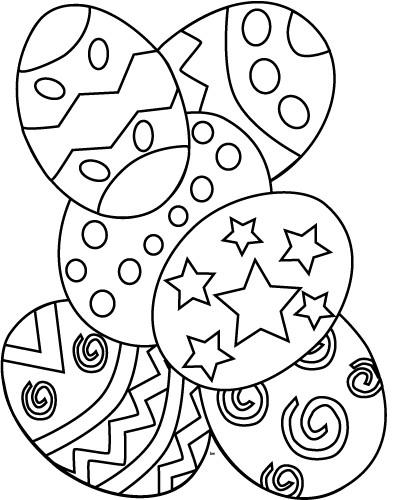 Coloriage et dessins gratuits Pâques facile à imprimer