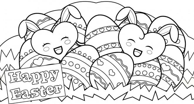 Coloriage et dessins gratuits Pâques maternelle à imprimer