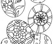 Coloriage et dessins gratuit Pâques pour fêter à imprimer