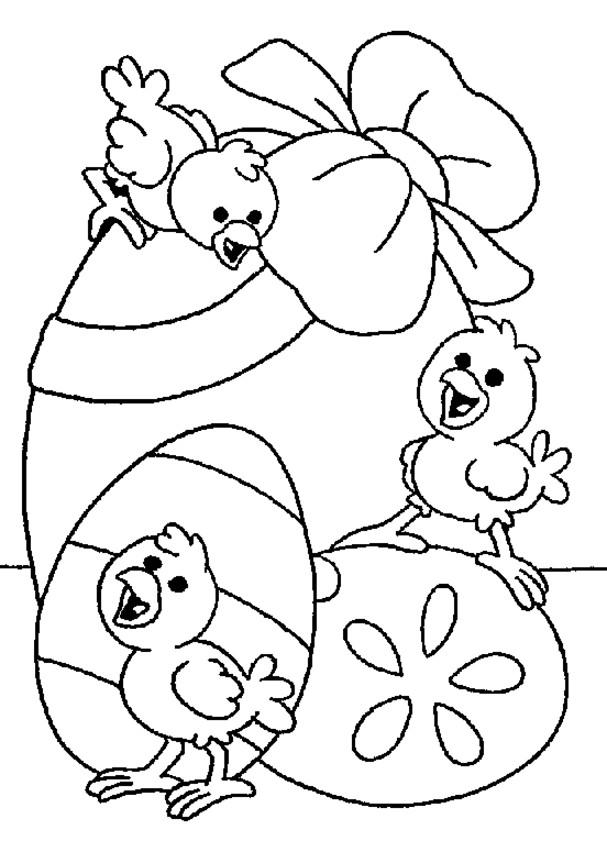 Coloriage et dessins gratuits Poussin de Pâques à colorier à imprimer
