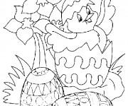 Coloriage Poussin Pâques  maternelle