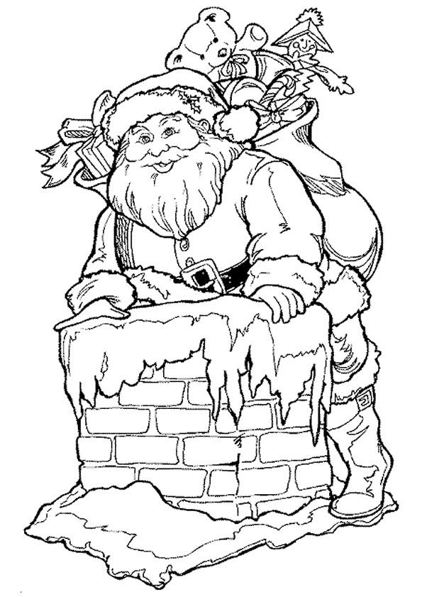Coloriage et dessins gratuits Arrivée de Père Noël à imprimer
