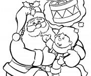 Coloriage et dessins gratuit L'enfant exprime son souhait pour le Noel à imprimer