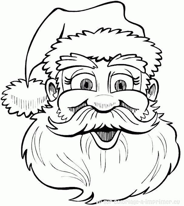 Coloriage et dessins gratuits Le Père Noël qui rigole à imprimer