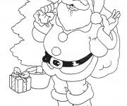 Coloriage et dessins gratuit Père Noël à colorier à imprimer