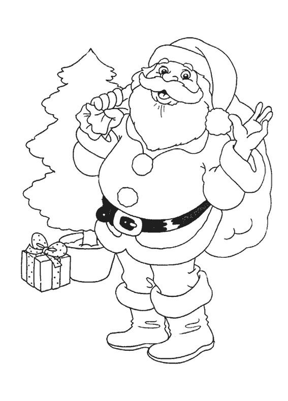 Coloriage Père Noël à Colorier