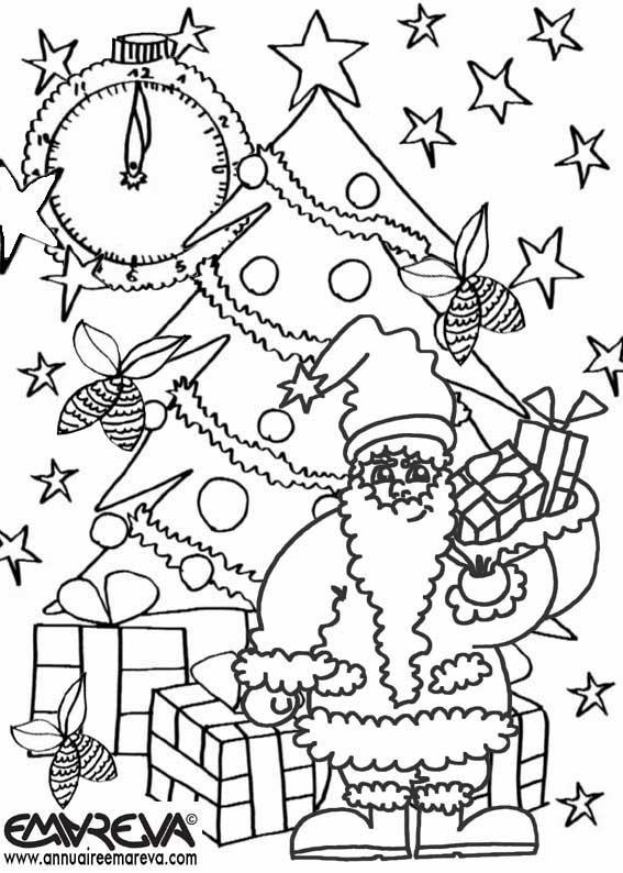 Coloriage et dessins gratuits Père Noël à télécharger à imprimer