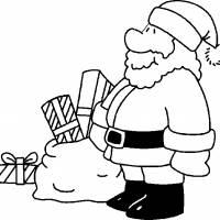 Coloriage et dessins gratuit Père Noel couleur à imprimer