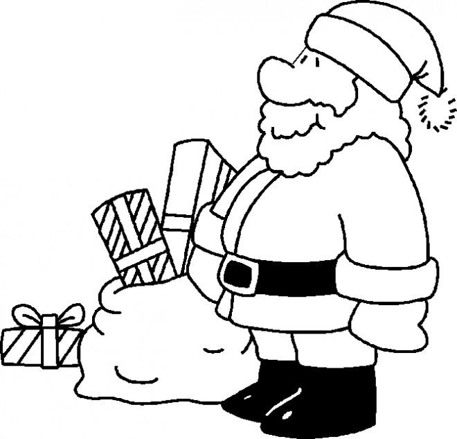 Coloriage et dessins gratuits Père Noel couleur à imprimer