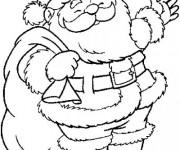 Coloriage et dessins gratuit Père Noel en Ligne à imprimer
