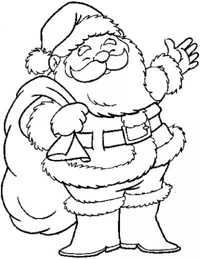 Coloriage et dessins gratuits Père Noel en Ligne à imprimer