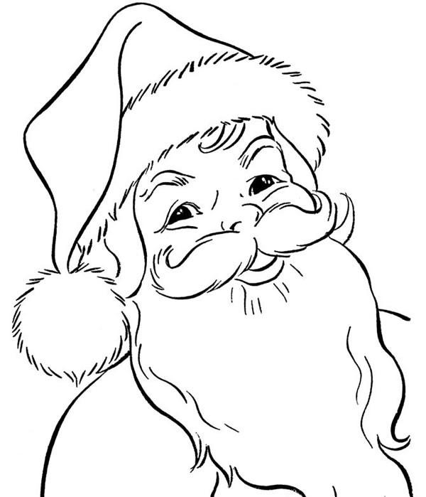 Coloriage et dessins gratuits Père Noël en riant à imprimer