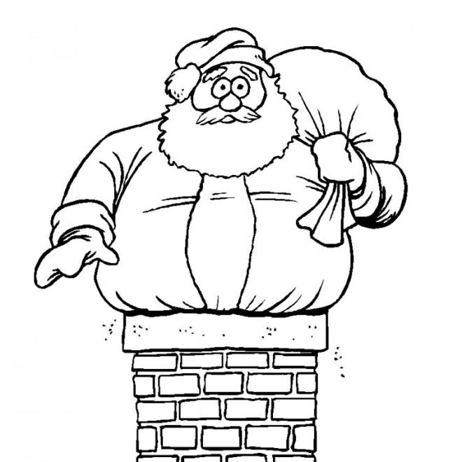 Coloriage Père Noël Humoristique Dessin Gratuit à Imprimer