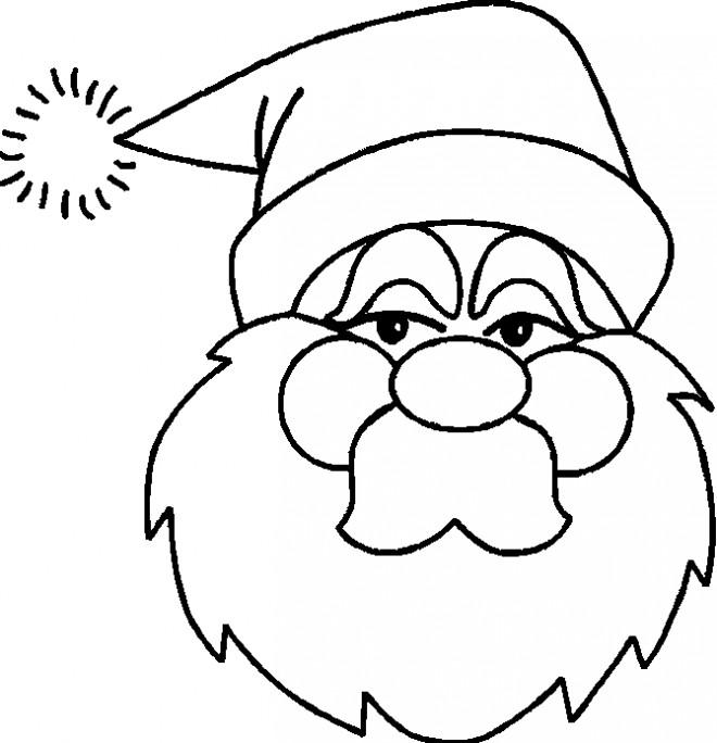 Coloriage et dessins gratuits Père Noël porte son bonnet à imprimer