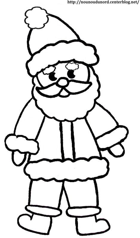 Coloriage et dessins gratuits Père Noël pour enfant à imprimer