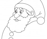 Coloriage Père Noël simple