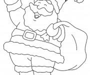 Coloriage et dessins gratuit Père Noël te salue à imprimer