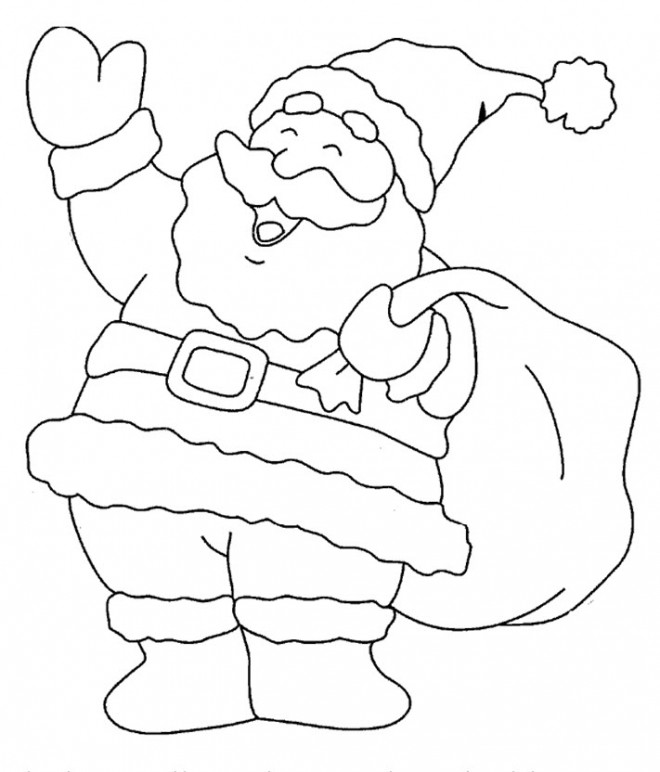 Coloriage p re no l te salue dessin gratuit imprimer - Coloriage papa noel ...
