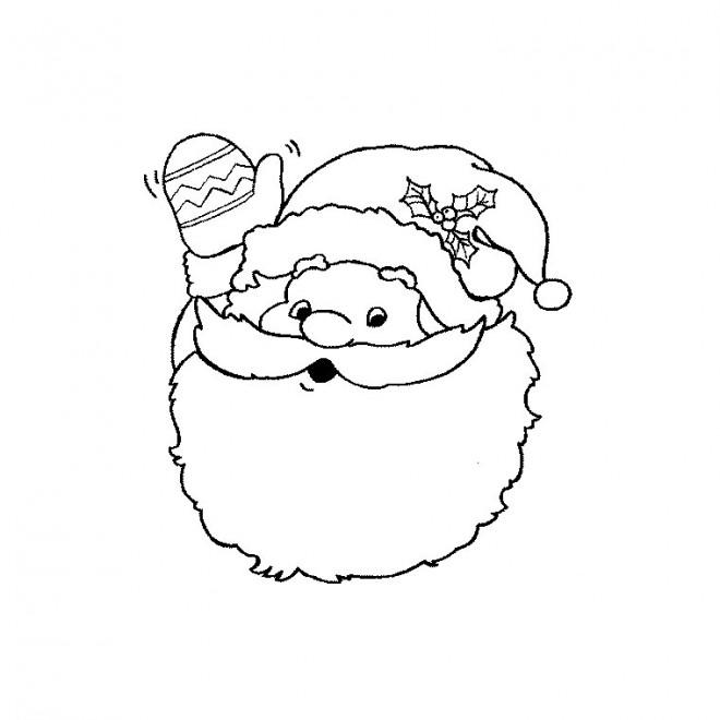 Coloriage et dessins gratuits Père Noël te salue couleur à imprimer