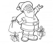 Coloriage et dessins gratuit Père Noël vecteur à imprimer