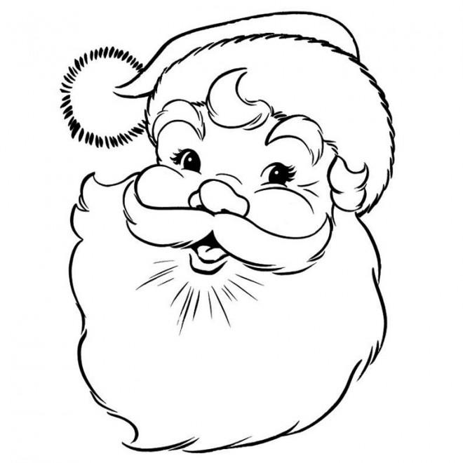 Coloriage et dessins gratuits Rire de Père Noël à imprimer