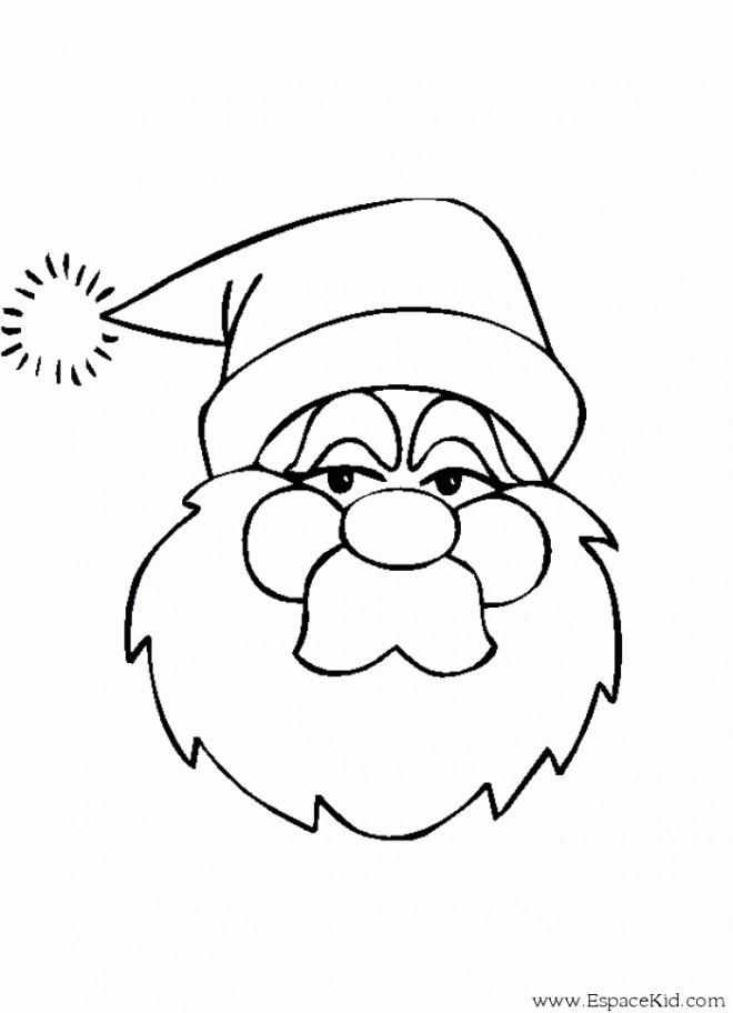 Coloriage et dessins gratuits Tête de Père Noël pour garçon à imprimer