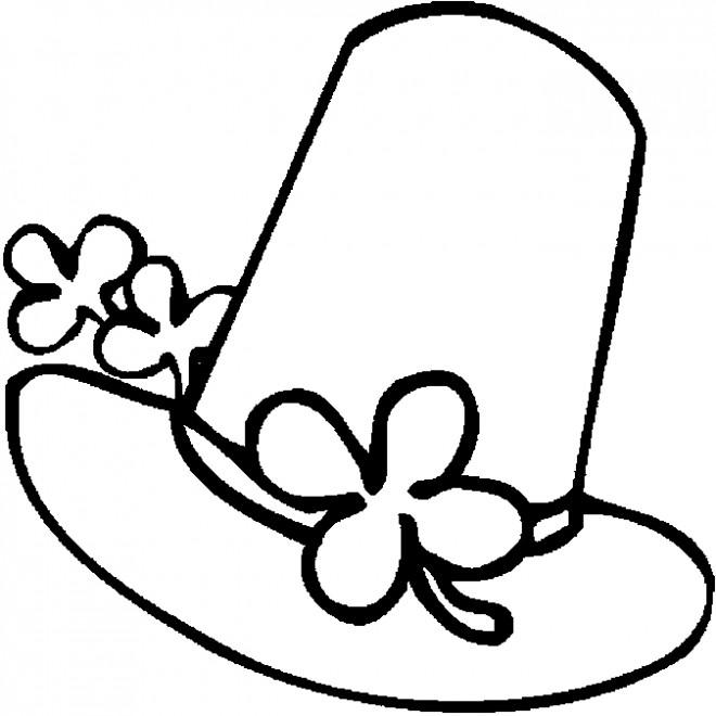 Coloriage et dessins gratuits Chapeau de Leprechaun à imprimer