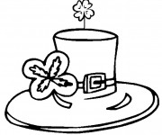 Coloriage et dessins gratuit Chapeau de Saint-Patrick à imprimer