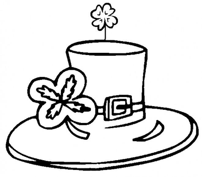 Coloriage et dessins gratuits Chapeau de Saint-Patrick à imprimer