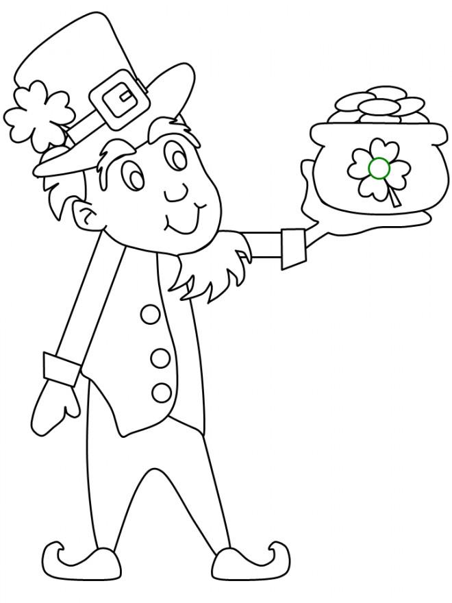 Coloriage et dessins gratuits Fête de Saint-Patrick à imprimer