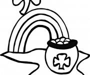 Coloriage et dessins gratuit Illustration Saint-Patrick à imprimer
