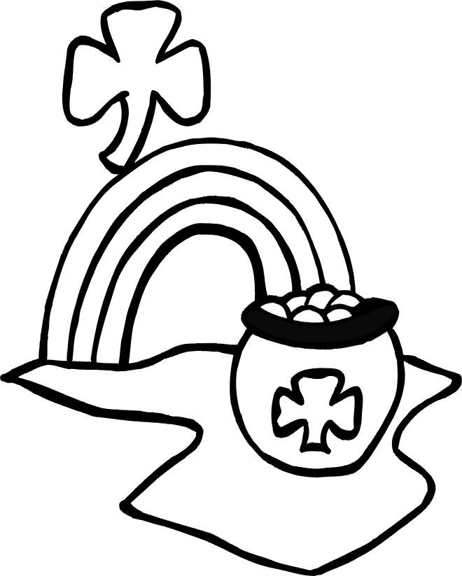 Coloriage et dessins gratuits Illustration Saint-Patrick à imprimer