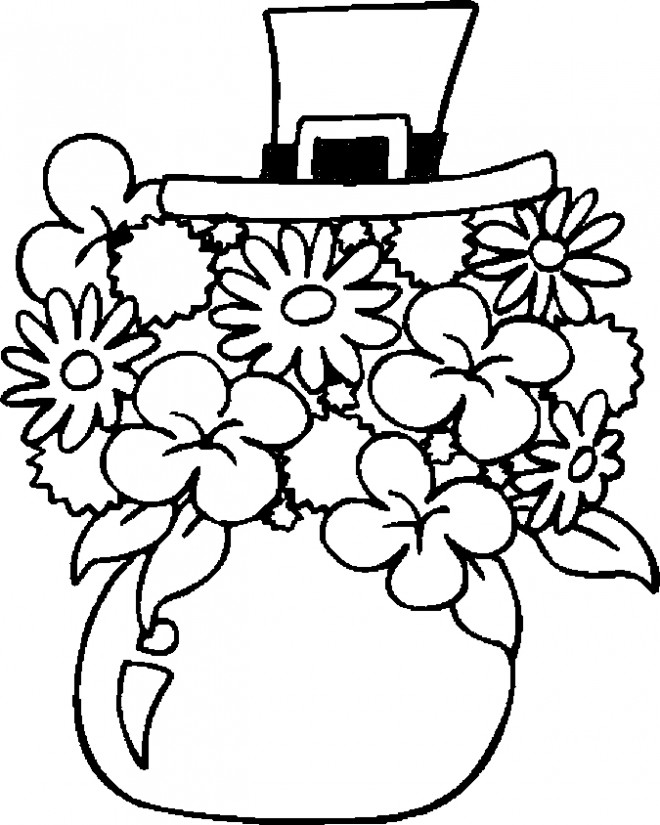Coloriage et dessins gratuits Les Fleurs de Saint-Patrick à imprimer