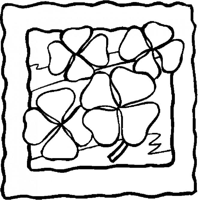 Coloriage et dessins gratuits Roses de Saint-Patrick facile à imprimer
