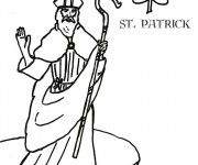 Coloriage Saint-Patrick 4