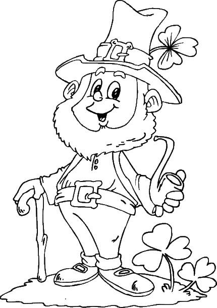 Coloriage et dessins gratuits Saint-Patrick avec sa barbe à imprimer