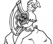 Coloriage Saint-Patrick et La Musique