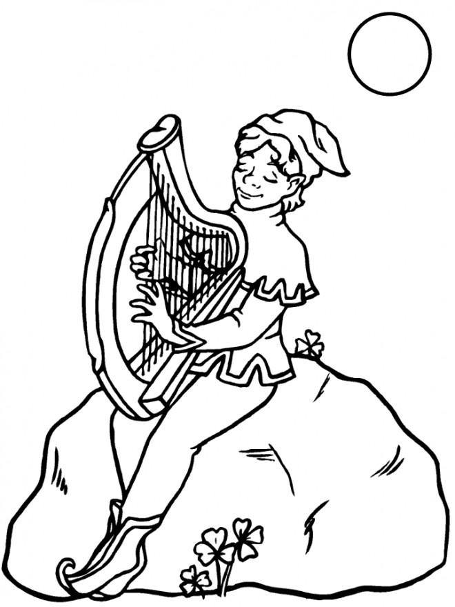 Coloriage et dessins gratuits Saint-Patrick et La Musique à imprimer